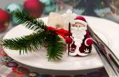 Christmas ans New Year table decoration — Stock Photo