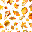 Seamless pattern with different autumn leaves — Stock Vector #55597909