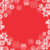 Christmas and New Year abstract background with snowflakes — Stock Vector