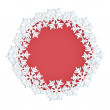 Frame decorated with snowflakes with place for your text — Stock Vector #57186805