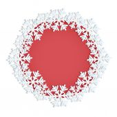 Frame decorated with snowflakes with place for your text — Stock Vector
