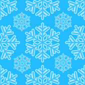 Winter seamless pattern with snowflakes for Christmas and New Ye — Stock Vector