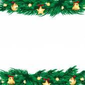 Plano de fundo Natal e ano novo com a árvore de Natal e Cristo — Vetor de Stock