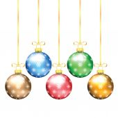 Christmas and New Year tree decorations isolated on a white back — Stock Vector