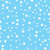 Seamless pattern with white stars on a blue background — Stock Vector