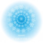 Abstract background with Christmas decorations of snowflake — Stock Vector