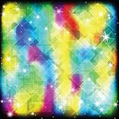 Colorful geometric shimmering background — ストックベクタ