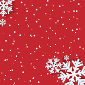 Achtergrond voor Kerstmis en Nieuwjaar met sneeuwvlokken — Stockvector