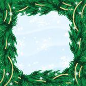 与圣诞树和圣诞新年和圣诞节的设计 — 图库矢量图片