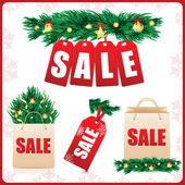 Icons Set for Christmas and New Year sales — Stock Vector