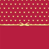 Background with golden hearts and ribbon for Valentine's day — Stock Vector