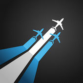Argentinien-flugzeug-vektor — Stockvektor