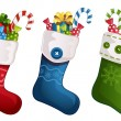 Christmas stockings — Stock Vector #56718423