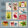 Postage stamps for Christmas — Stock Vector #58899485