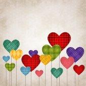 Hearts multicolored — Vettoriale Stock