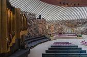 Interior of the Temppeliaukio Church in Helsinki, Finland — Stock Photo