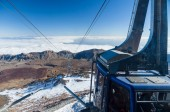 Car-cable at peak of volcano Teide is ready for descend — Stock Photo