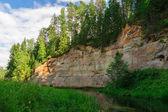 Picturesque outcrops of Taevaskoda on Ahja river, Estonia — Stock Photo