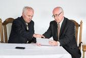 Two senior businessmen — Stock Photo
