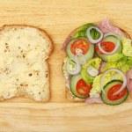 Ham salad sandwich — Stock Photo #71212209