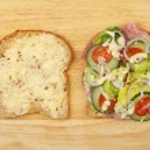 Ham salad sandwich — Stock Photo #71826311