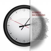 Business background, clock — Stock Vector