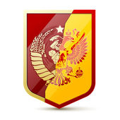 Coat of arms Soviet Union and Russia — Stock Vector