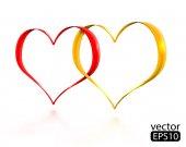 Valentinstag-Karte mit Herz. — Stockvektor