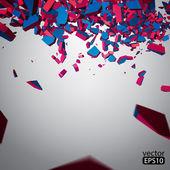 Vector Crushed Element — Stock Vector
