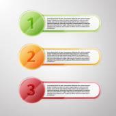 İlerleme simgeler için üç adım — Stok Vektör