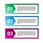 Progress icons for three steps  — Stockvektor