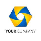 Abstract vector logo — Stock Vector