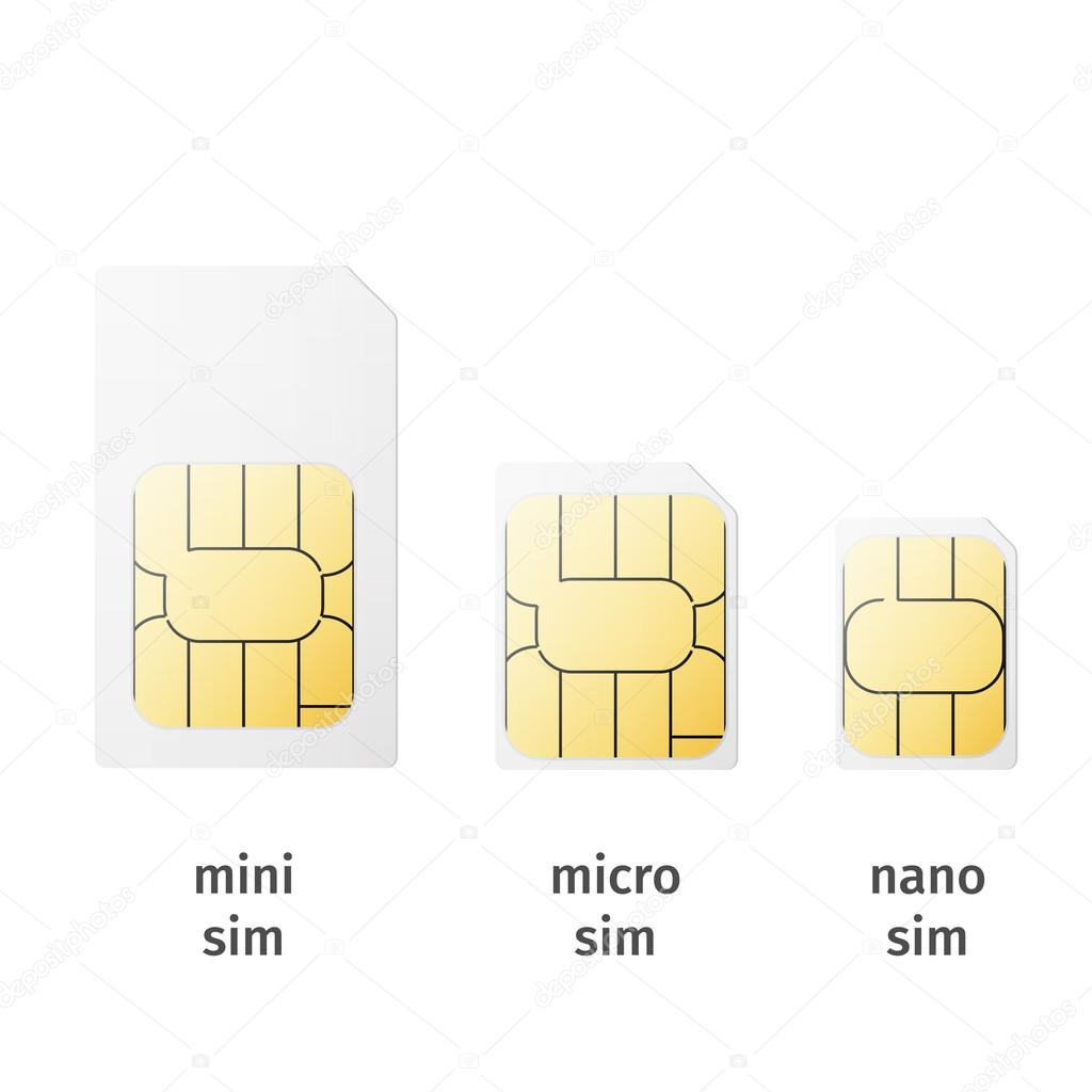 set of sim cards of different sizes mini micro nano image vectorielle netkoff 58387547. Black Bedroom Furniture Sets. Home Design Ideas