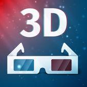 Three D glasses — Stock Vector