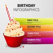 Birthday infographics — Stock Vector
