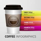 Coffee infographics — Stock Vector