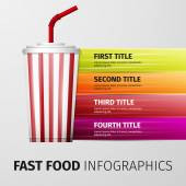 Fast food infographics — Stock Vector