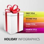 Holiday infographics — Wektor stockowy