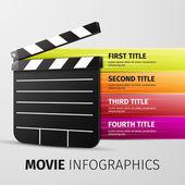 Movie infographics — Wektor stockowy