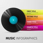 Music infographics — Stock Vector