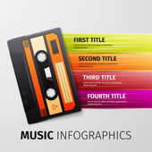 Music infographics — Stock Vector