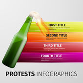 Protests infographics — Stock Vector