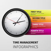 Time management infographics — Stock Vector