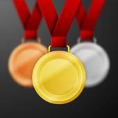 Winner medals — Stock Vector