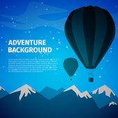 Adventure background — Stock Vector