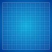 Blue Graph grid paper background — Stock Vector