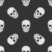 Vector seamless retro pattern, skull — Stock Vector