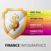 Finance infographics — Stock Vector