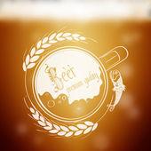 Beer emblem — Stock Vector