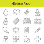 Outline icons set. Medical icon — Stock Vector